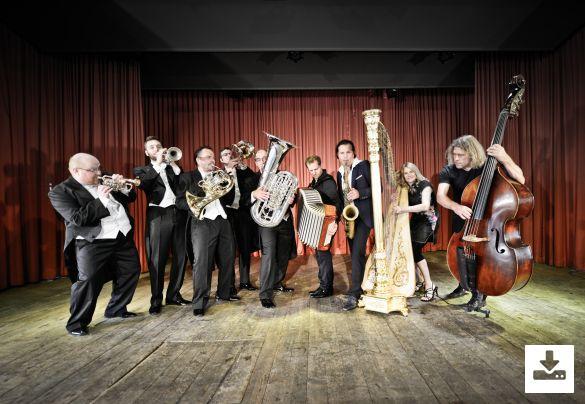 "Pressefoto Quadro Nuevo Programm ""Quadro Nuevo & Harmonic Brass: Concerto Grande''"