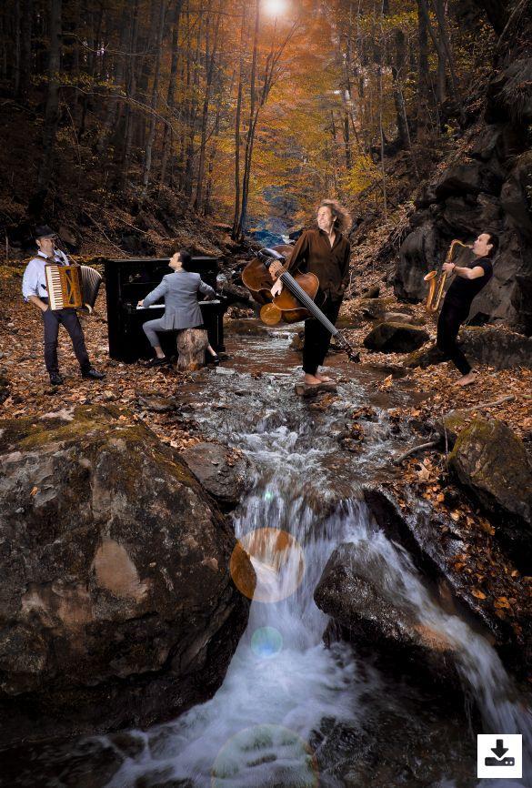 Press Picture Quadro Nuevo Programme ''Volkslied Reloaded'' (Quadro Nuevo as Quartett with Chris Gall on piano)