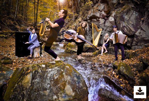 Pressefoto Quadro Nuevo Programm ''Wunder Welt Musik''