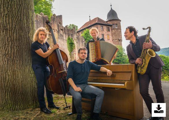 Press Picture Quadro Nuevo Programme ''Wonder World Music'' (Quadro Nuevo as Quartett with Chris Gall on piano)