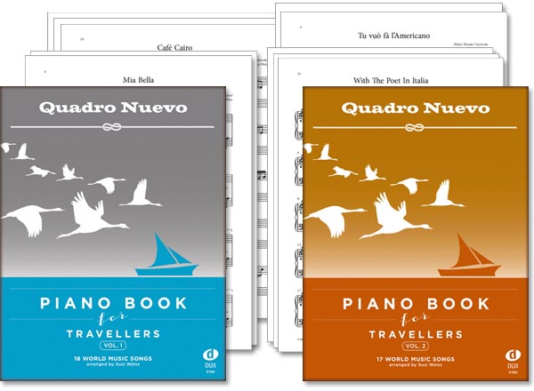 Piano Book for Travellers Vol. 1+2